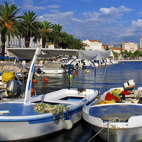 zeilvakantie kroatie split haven