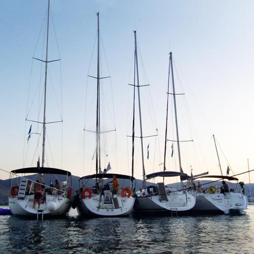 zeiljachten in flottielje